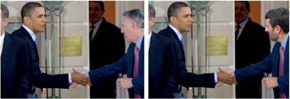 Una de las imágenes utilizadas en el experimento. A la izquierda la imagen original, a la derecha la modificada.